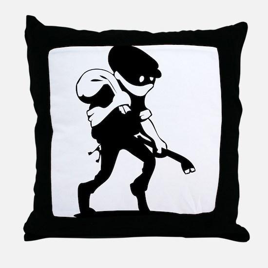 Burglar Throw Pillow