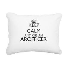 Keep calm and kiss an Ar Rectangular Canvas Pillow