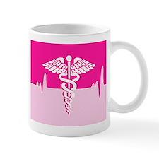 Pink Medical Heartbeat Mugs