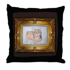 Most Interesting Cat In The World Throw Pillow