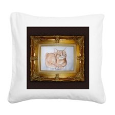 Most Interesting Cat In The W Square Canvas Pillow