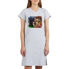 lion with white background Women's Nightshirt