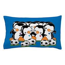 Soccer Penguins Pillow Case