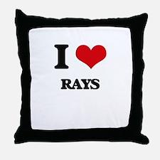 I love Rays Throw Pillow
