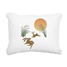 Moon, japanese pampas gr Rectangular Canvas Pillow