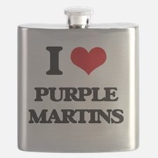 Cute Purple martins Flask