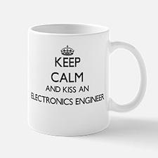 Keep calm and kiss an Electronics Engineer Mugs