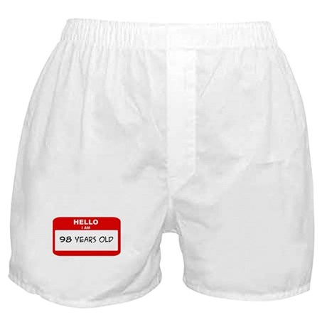 I am 98 Years Old years old ( Boxer Shorts