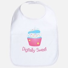 Digitally Sweet Cupcake Sprinkles Bib