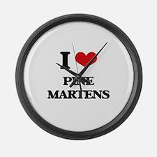 I love Pine Martens Large Wall Clock