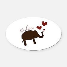Big Love Oval Car Magnet