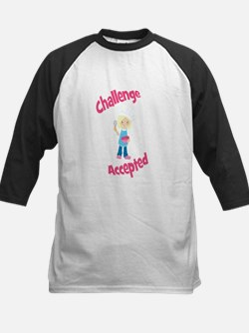 Baker Girl Blonde Challenge Accepted Baseball Jers