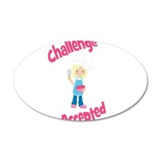 Baker Girl Blonde Challenge Accepted Wall Decal