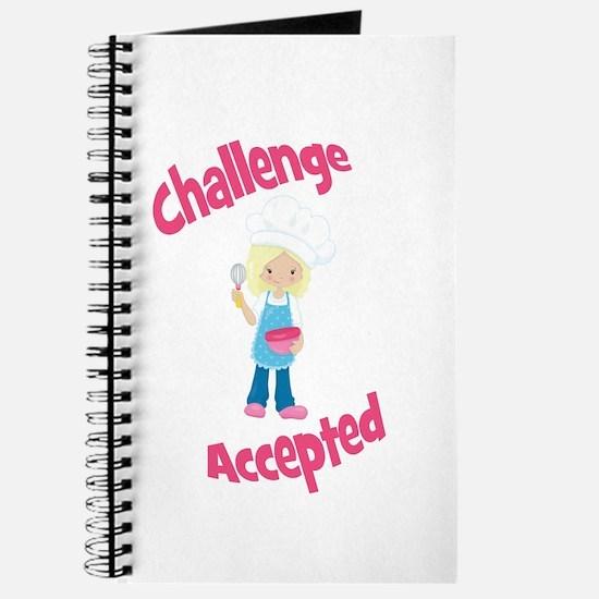 Baker Girl Blonde Challenge Accepted Journal