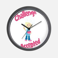 Baker Girl Blonde Challenge Accepted Wall Clock