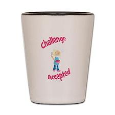 Baker Girl Blonde Challenge Accepted Shot Glass