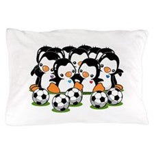 Soccer Penguins Pillow Case