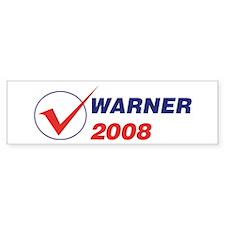 WARNER 2008 (checkbox) Bumper Bumper Sticker