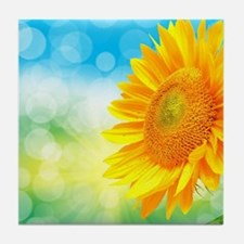 Sunflower Power Tile Coaster