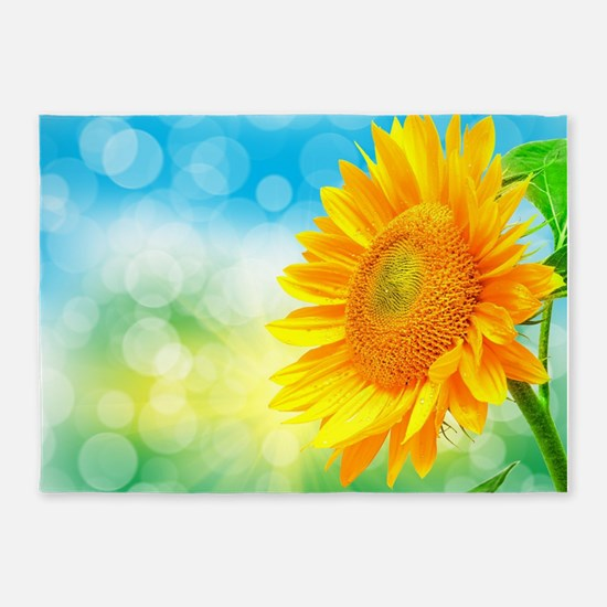 Sunflower Power 5'x7'Area Rug