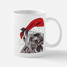 Cute Yorkie Christmas Puppy Mugs