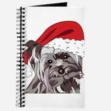 Cute Yorkie Christmas Puppy Journal
