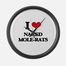 I love Naked Mole-Rats Large Wall Clock