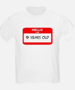 I am 9 Years Old years old (t T-Shirt