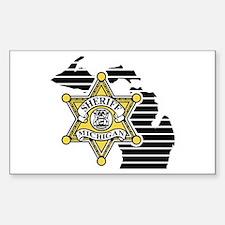Michigan Sheriff Rectangle Decal