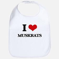 I love Muskrats Bib