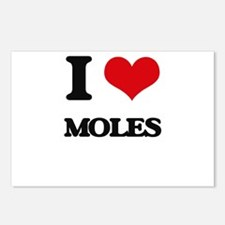 I love Moles Postcards (Package of 8)