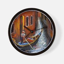 Gondola Ride at Venice Wall Clock