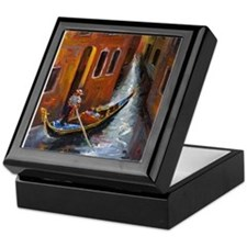 Gondola Ride at Venice Keepsake Box