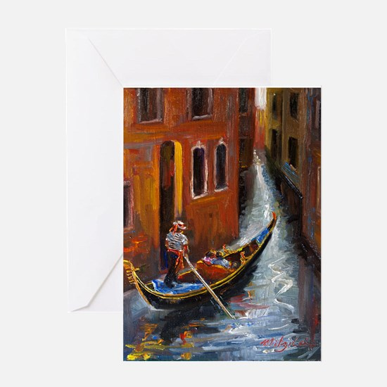 Gondola Ride at Venice Greeting Cards