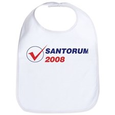SANTORUM 2008 (checkbox) Bib