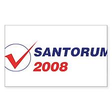 SANTORUM 2008 (checkbox) Rectangle Decal