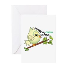 Extend An Owlive Brance Greeting Cards
