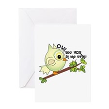 Owl See You In The Spring Greeting Cards