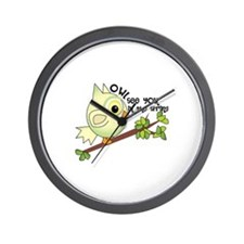 Owl See You In The Spring Wall Clock