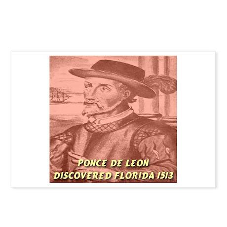 Ponce de Leon Discovered Flor Postcards (Package o
