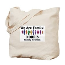 NORRIS reunion (we are family Tote Bag