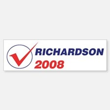 RICHARDSON 2008 (checkbox) Bumper Bumper Bumper Sticker