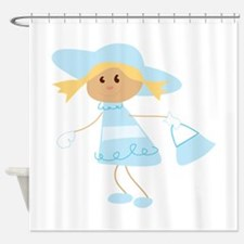 School Girl Shower Curtain