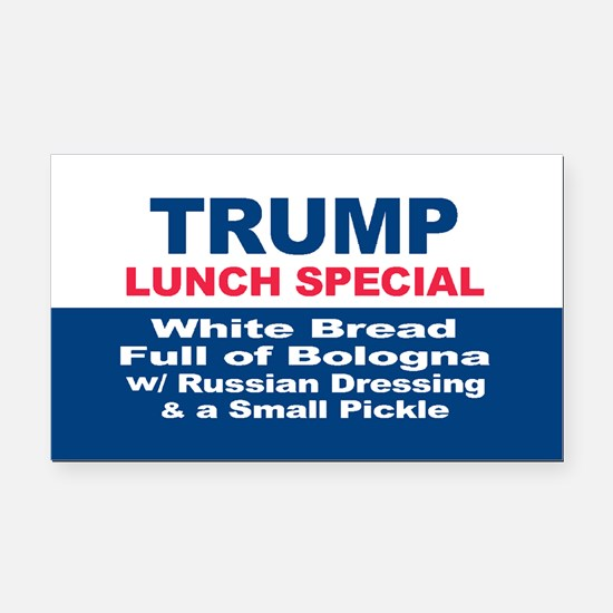 President Trump Lunch Special Rectangle Car Magnet
