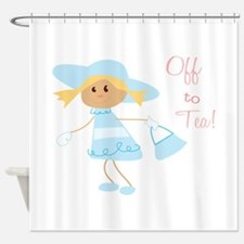 Off To Tea Shower Curtain