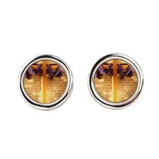 bible cross Round Cufflinks