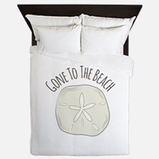 Gone To Beach Queen Duvet