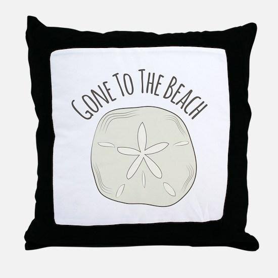 Gone To Beach Throw Pillow