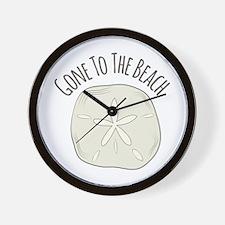Gone To Beach Wall Clock