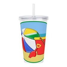 Beach Ball Pail and Sh Acrylic Double-wall Tumbler